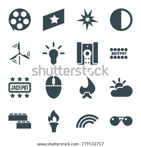 bright icons set of 16