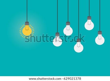 bright idea and insight concept