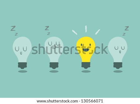bright idea concept with light bulb
