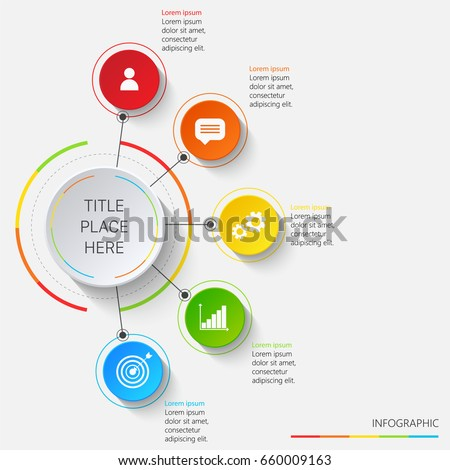 Bright infographics of 5 elements #660009163