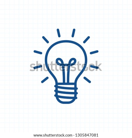 Bright Lightbulb - Ink Stroke Icons. A professional, pixel-aligned icon.