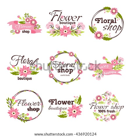 Bright logo for flower shop
