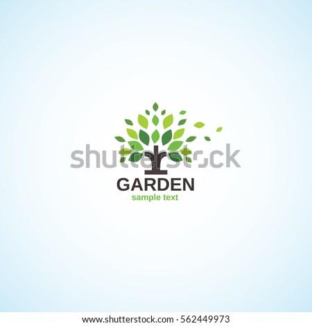 Bright logo on the garden theme.