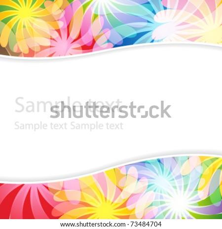 Bright magic flowers. Transparent  background.