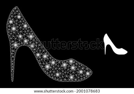 bright mesh vector high heel