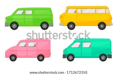 bright minibus or shortbus