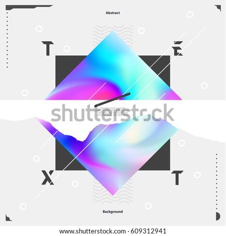 bright minimalistic poster