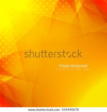 bright modern polygonal shape