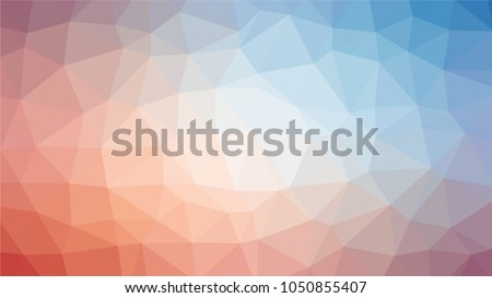 Bright multicolor low polygonal crystal background. Triangular polygon  pattern. Low poly vector illustration. Low polygonal backdrop
