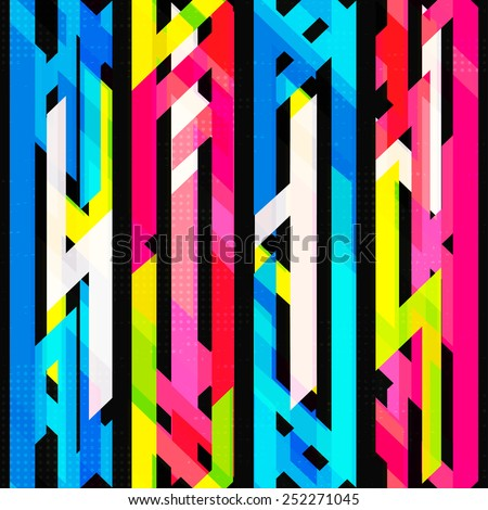 bright neon seamless pattern