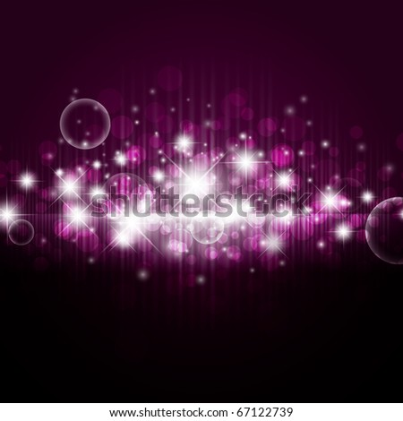 bright night background with stars and lights