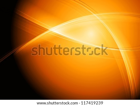 bright orange background with