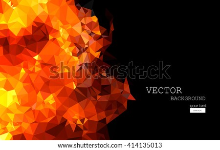 bright orange fire abstract