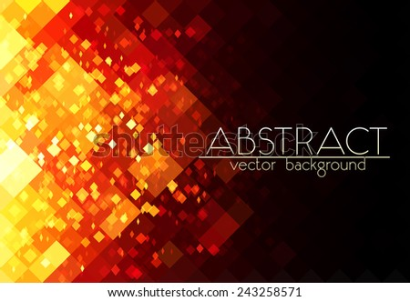 bright orange fire grid vector