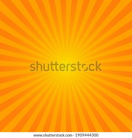 Bright orange sunburst background design. Сток-фото ©