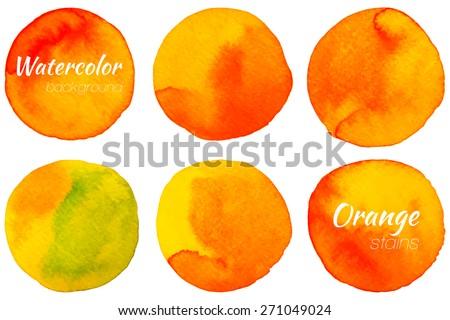 bright orange watercolor