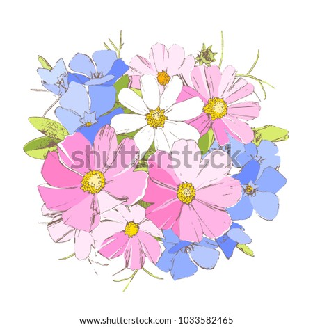 bright periwinkl  daisy and