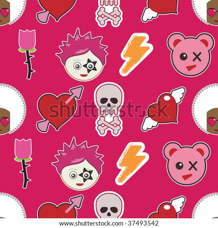 wallpaper emo pink. stock vector : bright pink