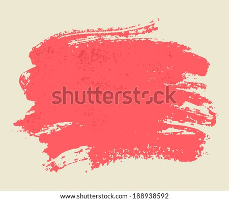 Bright pink watercolor brush vector strokes on light background. #188938592