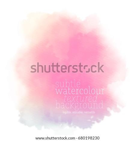 bright pink watercolor splotch