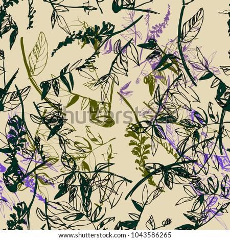 bright plant textile pattern