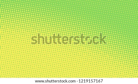 Bright pop art background in green and yellow colors dot haltone retro style, vector illustation full hd