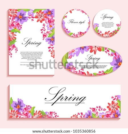 Bright poppies on a light background. Flower illustration for greeting cards, invitations and pozravleniya. The composition of colors is suitable for printing on paper, cloth and other items. #1035360856