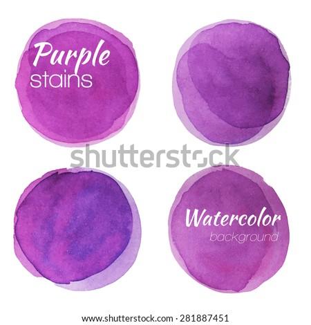 bright purple watercolor