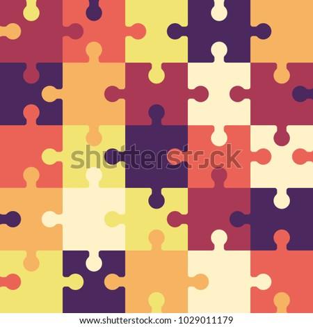 bright puzzle seamless