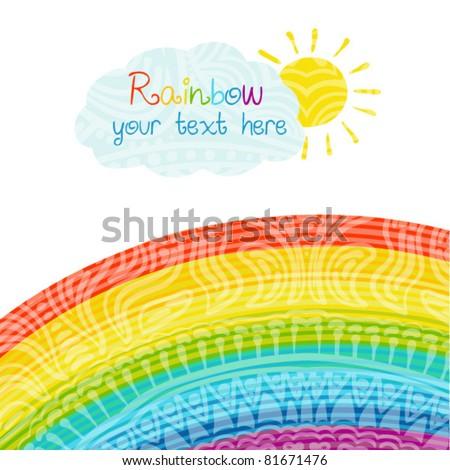 bright rainbow illustration