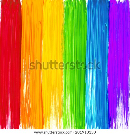 bright rainbow paint strokes
