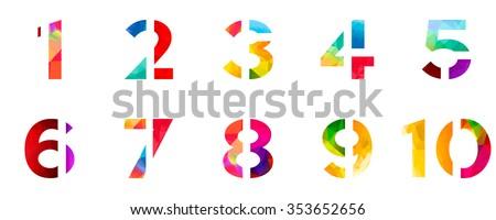 bright rainbow polygon number