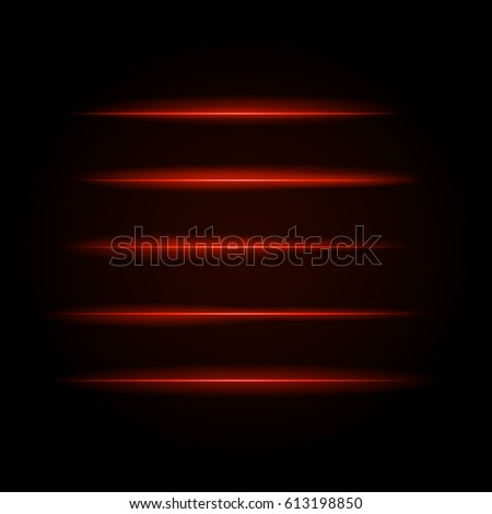 bright red glowing lines in the