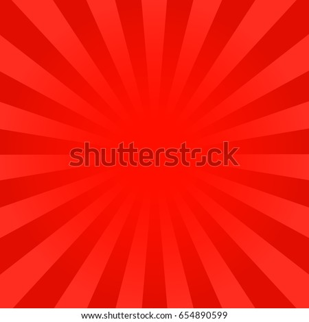 Stock Photo Bright red rays background. Comics, pop art style. Vector, eps 10.