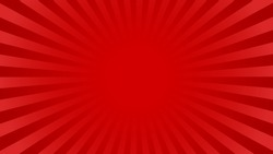 Bright red rays background with 16:9 aspect ratio. Comics, pop art style. Vector, eps 10.