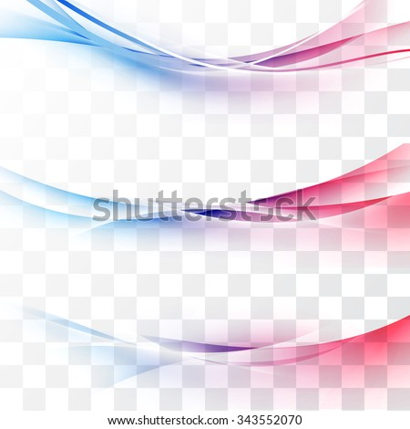 Bright red to blue gradient speed lines abstract minimalistic web header swoosh waves. Vector illustration