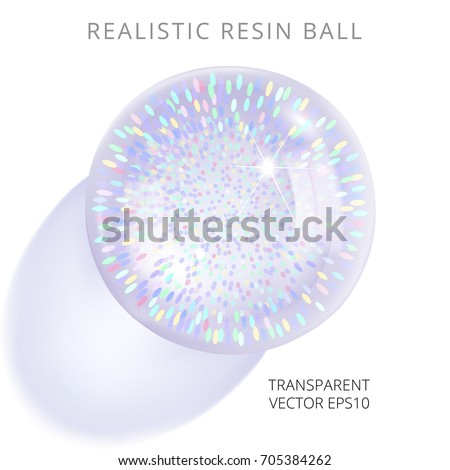 bright resin ball with a