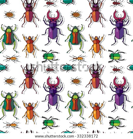 bright seamless pattern with a