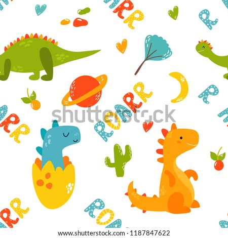 bright seamless pattern with