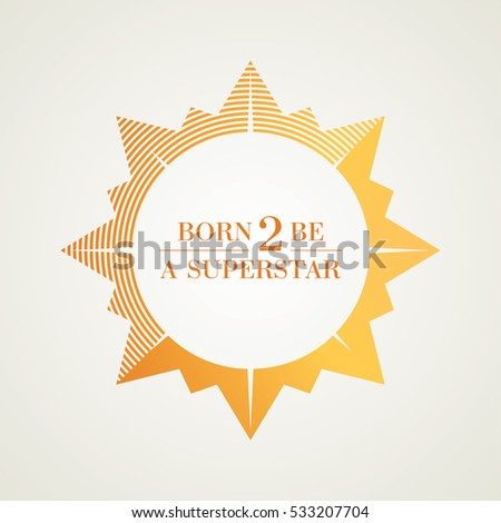 bright shining golden star logo