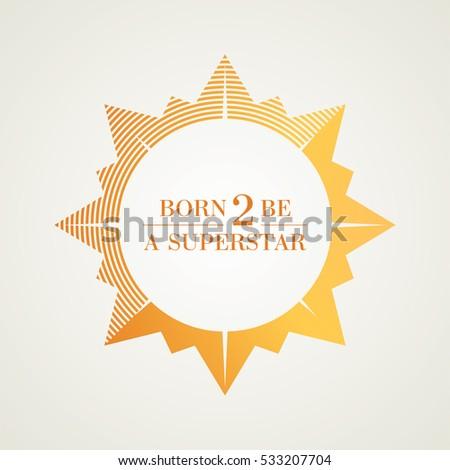 bright shining golden star logo