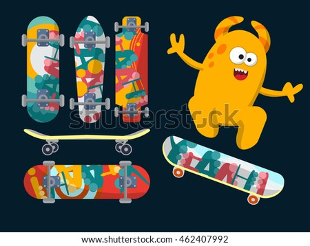 bright skateboard on a dark