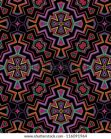 Bright Southwestern Vector Background Tile in Repeat