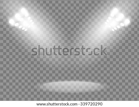 bright spotlights vector design