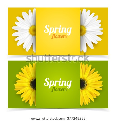 bright spring banners design