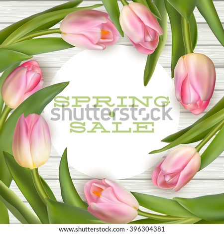 bright spring sale design eps