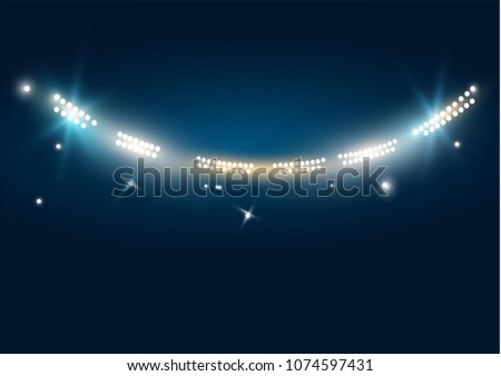 bright stadium arena lights