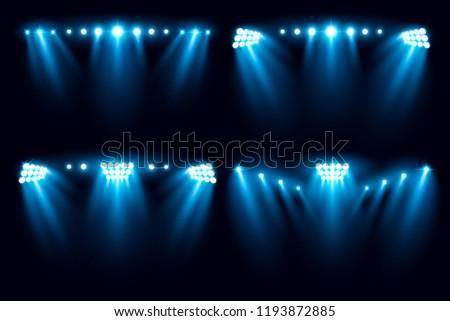 bright stadium arena set