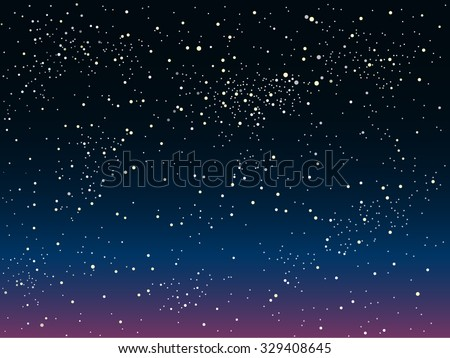 bright star in blue dark night