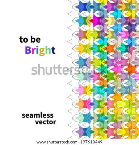 bright star seamless background, vector illustration #197610449
